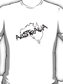 Australia outline plus text T-Shirt T-Shirt