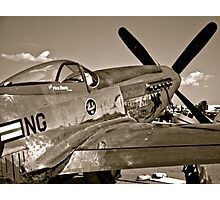 Stang Evil Vintage Mustage Fighter Plane Photographic Print