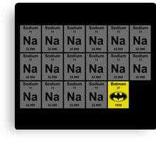 Periodic Table of Batman Canvas Print