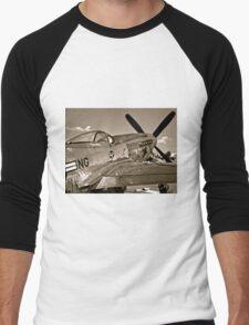 Stang Evil Vintage Mustage Fighter Plane Men's Baseball ¾ T-Shirt