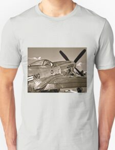 Stang Evil Vintage Mustage Fighter Plane T-Shirt