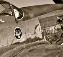 Stang Evil Vintage Mustage Fighter Plane Sticker