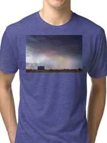 Positive Pink Lightning On the Prairie  Tri-blend T-Shirt