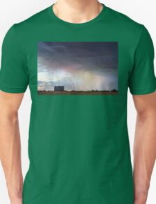 Positive Pink Lightning On the Prairie  T-Shirt