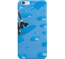 The Diver Among Water Drops iPhone Case/Skin