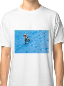 The Diver Among Water Drops Classic T-Shirt
