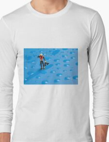 The Diver Among Water Drops Long Sleeve T-Shirt