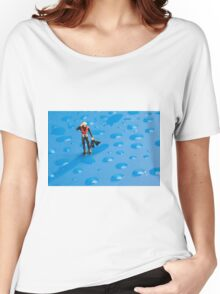 The Diver Among Water Drops Women's Relaxed Fit T-Shirt