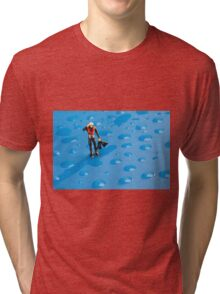 The Diver Among Water Drops Tri-blend T-Shirt
