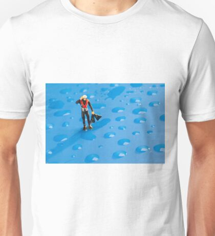The Diver Among Water Drops Unisex T-Shirt