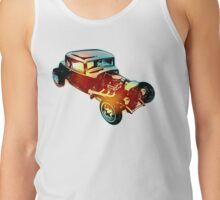 1932 Ford - 5 Window - Side Pipes - Vintage Style - Hot Rod Tank Top