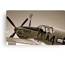 Tuskegee P-51 Mustange Vintage Fighter Plane Canvas Print