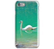 Swan on 'clear water of a lake (Italy) iPhone Case/Skin