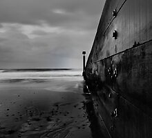 Black and White Groyne by Marcus Walters