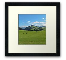 Green mountains (Italy) Framed Print