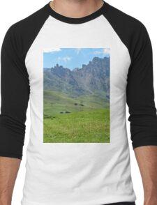 Green mountains (Italy)2 Men's Baseball ¾ T-Shirt