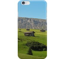Houses in green valley in the mountains (Italy) iPhone Case/Skin