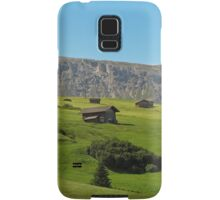 Houses in green valley in the mountains (Italy) Samsung Galaxy Case/Skin