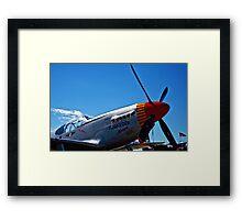 Tuskegee Airmen P51 Mustang Fighter Plane Framed Print