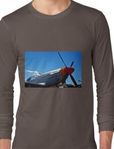 Tuskegee Airmen P51 Mustang Fighter Plane Long Sleeve T-Shirt