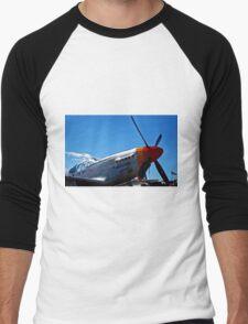 Tuskegee Airmen P51 Mustang Fighter Plane Men's Baseball ¾ T-Shirt