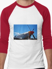 Tuskegee Airmen P51 Mustang Fighter Plane Men's Baseball ¾ T-Shirt
