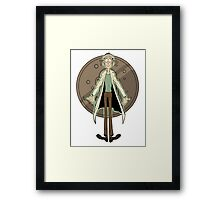 Doofus Rick (Grey Coin) Framed Print
