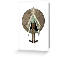Doofus Rick (Grey Coin) Greeting Card