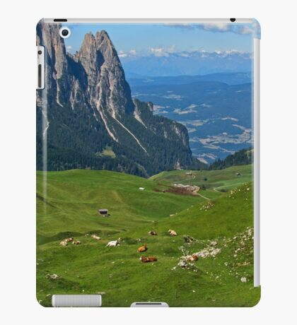 View from the top of a mountain iPad Case/Skin