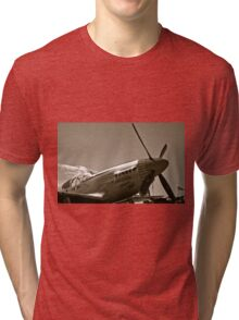 Tuskegee Airmen P51 Mustang Fighter Plane Tri-blend T-Shirt