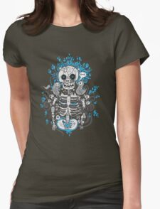 Skeleton Man Womens Fitted T-Shirt