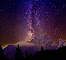 Milky Way over the alps by Delfino