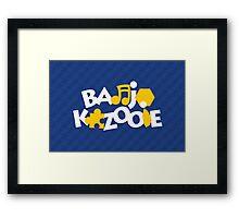 Bear & Bird - Blue Framed Print