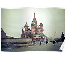 Red Square in November Poster