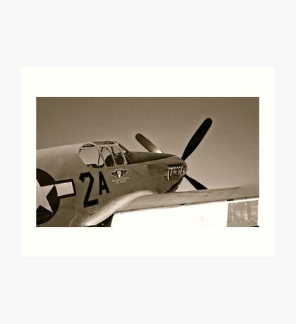 Tuskegee Airmen P51 Mustang Fighter Plane Art Print