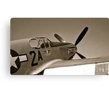 Tuskegee Airmen P51 Mustang Fighter Plane Canvas Print