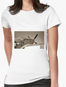 Tuskegee Airmen P51 Mustang Fighter Plane Womens Fitted T-Shirt