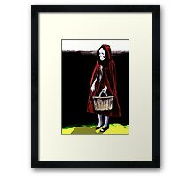 Little Blood Red Riding Hood Framed Print
