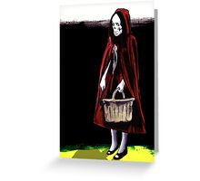 Little Blood Red Riding Hood Greeting Card