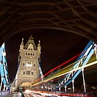 Tower Bridge at night with Light trail by ShanneOng