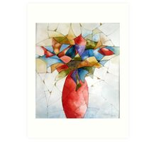 The red vase Art Print