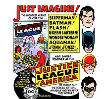 Retro Comics First Justice League Comic Book #1 Advertisement by MaskedMarvel