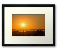 Suns Gonna Rise Framed Print