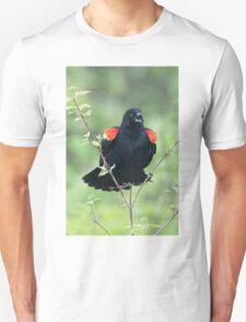 Red-Winged Black Bird Singing Unisex T-Shirt