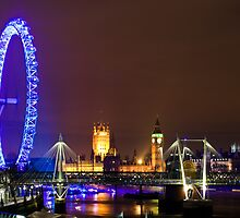 London Eye and The Westminister by the SouthBank by ShanneOng
