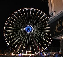 Ferris Wheel by night. Lille Christmas market by Sarah Howes