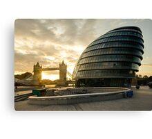 London Mayor House and the Tower Bridge Canvas Print
