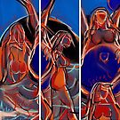 3 Details together of Sensual Sacral Moon Dance by Anthea  Slade