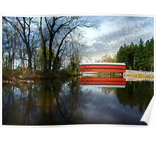 Autumn - Sachs Covered Bridge Poster