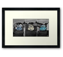VW Beetle triptych Framed Print